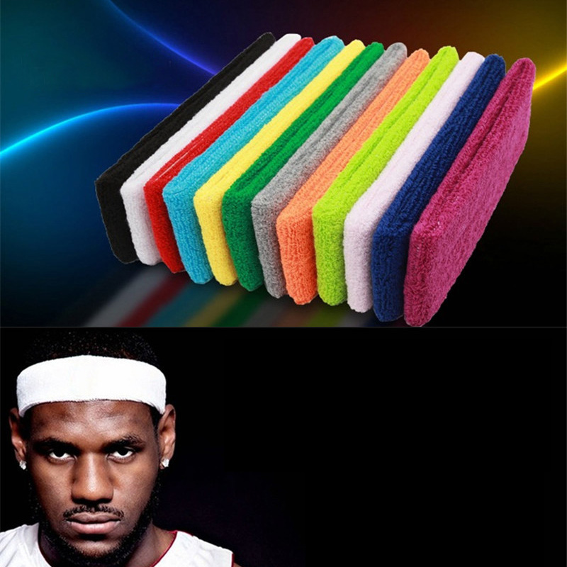 @1  Спортивная повязка на голову Мужчины Женщины Бег Йога Пилатес Баскетбол GYM Ленты для волос Хлопчато ★
