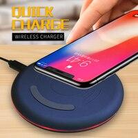 WLMLBU Original Qi Wireless Charger For IPhone X 8 8plus Slim Fast 10W USB Wireless Charging
