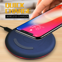 WLMLBU Original Qi Wireless Charger For IPhone X 8 8plus Slim Fast 10W USB Wireless Charging