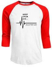Ecg Heart Rate Paramedic Nurse T Shirt 100% Cotton Raglan Sleeve Men's T-Shirt