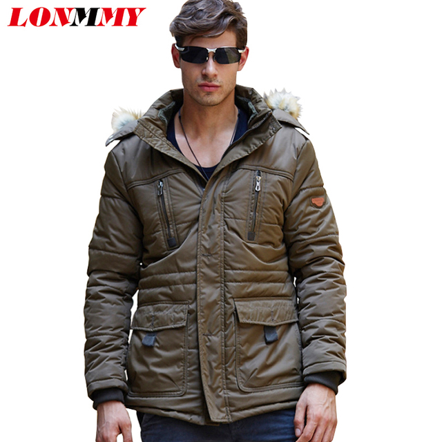 LONMMY L-5XL 2016 Winter jacket men Parkas coat Velvet Thick Hooded Jaquetas Hoodies men jacket Casual 2016 Mens coats