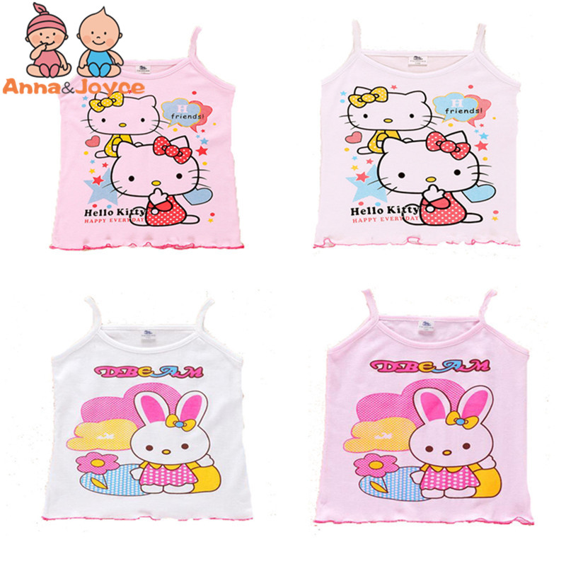 In Stock Girls Tanks Baby Girl Summer Vest Girls Clothes Tank Wear Tops Cotton Sleeveless Cool Good Quality