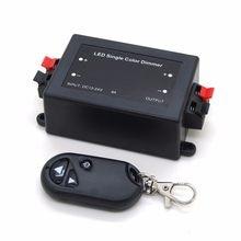 Atenuador de Color único LED, Control remoto RF de 3 teclas, controlador LED inalámbrico 12V 24V DC 8A