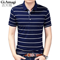 Hot Sale New 2017 Fashion Brand Men Polo shirt Classic stripes Color Short Sleeve Shirt Men Cotton polo Shirts Casual Shirts 3XL