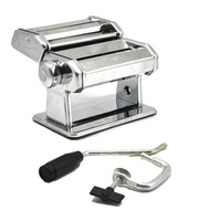 Stainless Steel Pasta Maker Rolls and Cuts Pasta Dough for Making Noodles Adjustable Thickness Manual Pressing Machine