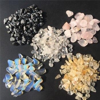 100 г натуральный кварц, кристалл, гравий, образец, полированный опущенный камень