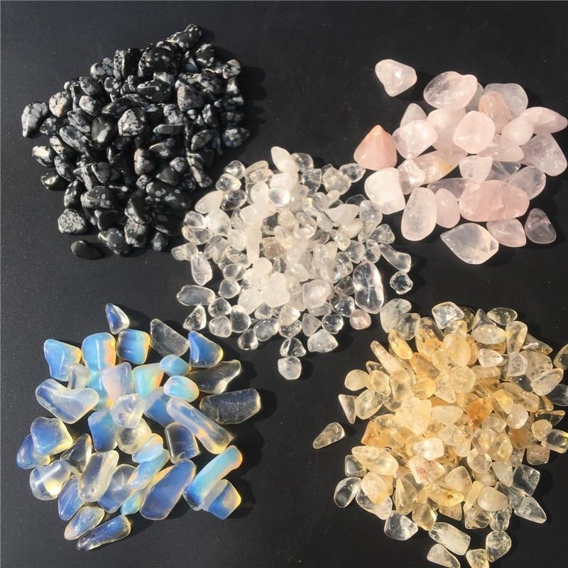 100g Natural Quartz Crystal Gravel Specimen Polished Tumbled Stone