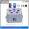 Free shipping Flykostage Phone App control IR Remote battery LED par dj wedding uplighting RGBWA+UV
