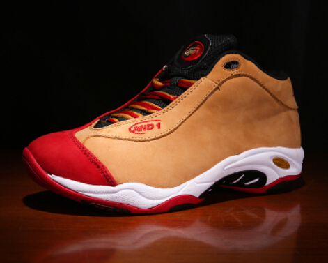 Free shipping 100% genuine new Carter AND1 Tai Chi yards basketball shoes  red-orange rubber cloth size 8.5-12 13 14 15 16 17 c66c1b17002b
