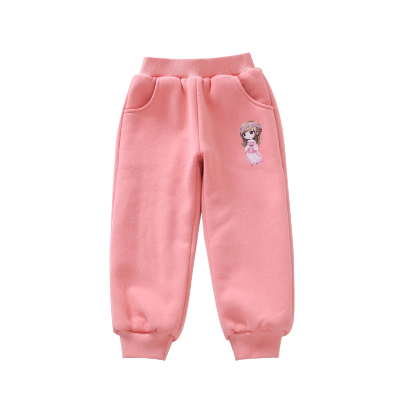 2019 winter children's clothes girls pants casual warm thicken fleece baby girl sport pants for girls big kids long trousers