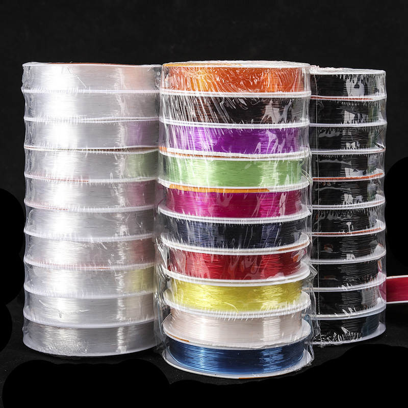 LanLi 0.5/0.6/0.7/0.8/1.0mm White stretch line nylon thread for Jewelry Necklace Jewelry Accessories And fishing