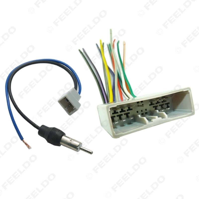 Feeldo Car Radio Audio Stereo Wire Harness Antenna Adapter For Honda 06 08 Civic Fit Crv Acura 1652 Aliexpress