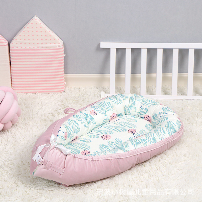 2019 New 80cm*50cmBaby Nest Bed Crib Portable Removable And Washable Crib Travel Bed For Children Infant Kids Cotton Cradle