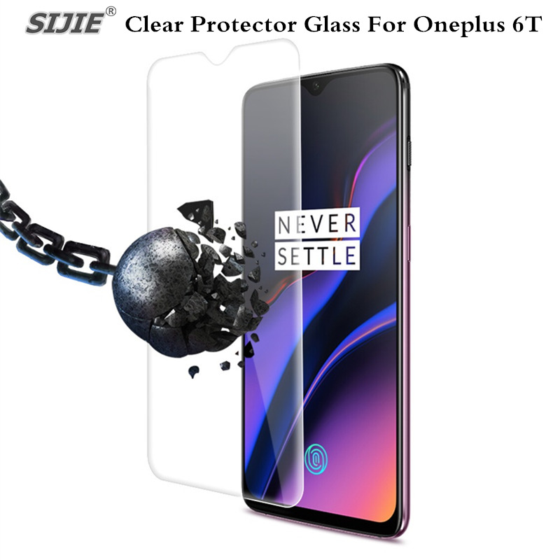 Protector Glass For <font><b>Oneplus</b></font> <font><b>6T</b></font> screen protective <font><b>smartphone</b></font> clear frame all 9H Tempered Glass toughened on One Plus <font><b>6T</b></font> film image