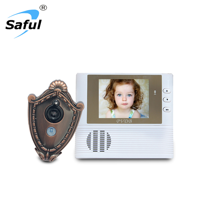 SAFUL 2.8 inch Lcd digital Door Camera Doorbell peephole Door viewer eye Home Security Camera Cam door bell 3X Zoom thgs digital viewfinder judas 2 8 lcd 3x zoom door bell for safety