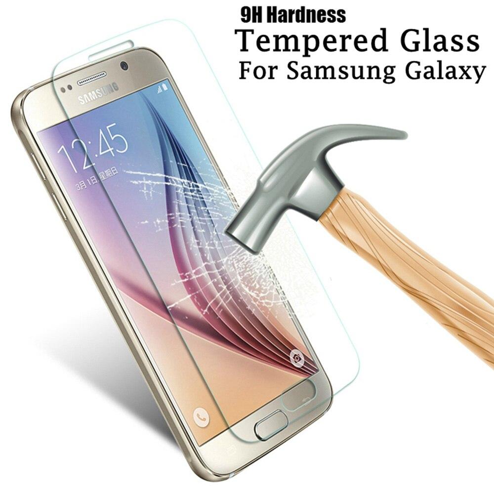 9 שעתי מזג זכוכית על סמסונג גלקסי A3 A5 A7 2016 מסך מגן עבור סמסונג A5 A3 A7 2015 j3 j320 j5 j510 מגן סרט