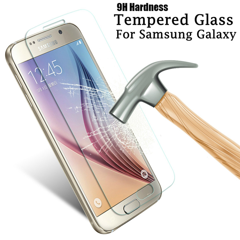 Galleria fotografica 9H Tempered Glass on Samsung Galaxy A3 A5 A7 2016 Screen Protector For Samsung A5 A3 A7 2015 j3 j320 j5 j510 Protective film