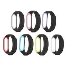 Mijobs Mi band Three strap Silicone wrist Bracelet Strap Miband Three Colourful Strap Wristband Good Band mi band3 For Xiaomi Mi Band 3