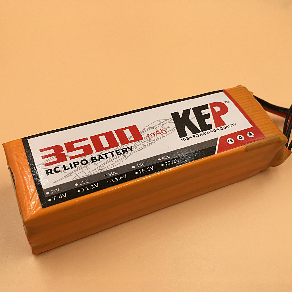 KEP RC Lipo Battery 4S 14.8v 3500mAh 35C For RC Aircraft Helicopter Car Boat Drones Quadcopter Li-Polymer Batteria AKKU 5pcs lot 20cm 20cm rc battery fastening tape for li po battery of rc quadcopter rc aircraft rc boat wholesale