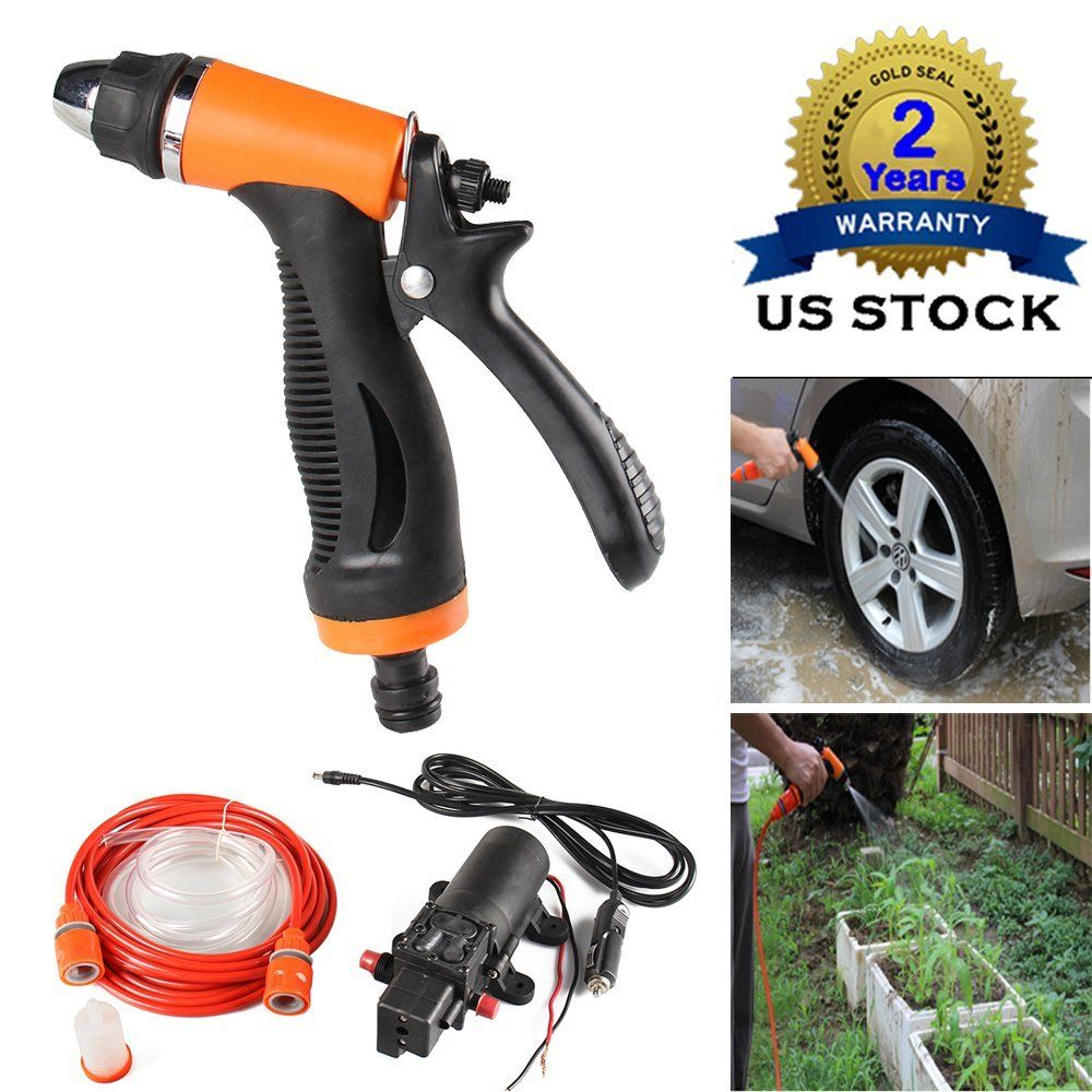 CarBole car washer 12V Flow 8L/min 100Wh Pressure Electric Auto Wash Washing Machine from the cigarette lighter