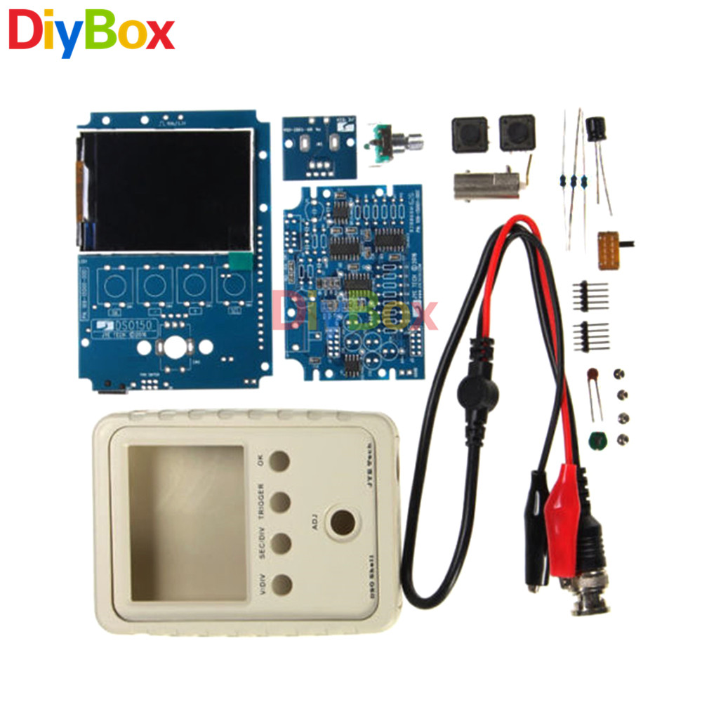 Dso138 Digital Oscilloscope Probe Unsoldered Diy Kit Flux Workshop 125v Mini2440 Power Supply System Schematic Diagram Ds0150 15001k Dso Shell Electronic Set Oscillograph Module Oscillometer Ondoscope With Housing