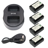 4Pcs NP FV50 NP FV50 Rechargeable Camera Battery USB Dual Charger For Sony NP FV30 HDR