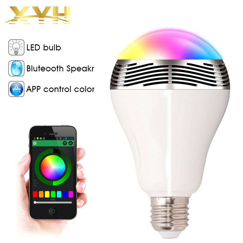 Wireless Bluetooth 4 0 Speakers Rgb Led Bulb Color