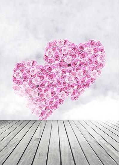 600Cm*300Cm Background Rose Heart Love Photography Backdropsthick Cloth Photography Backdrop 3208 Lk  Valentine'S Day 8x10ft valentine s day photography pink love heart shape adult portrait backdrop d 7324