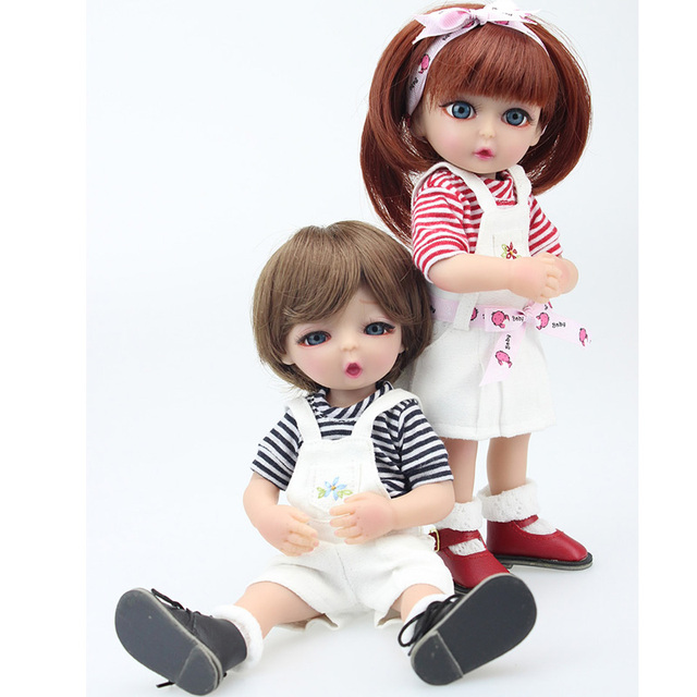 2018 Best Gift 25cm Small Cute Couple Dolls Full Silicone Mini Baby