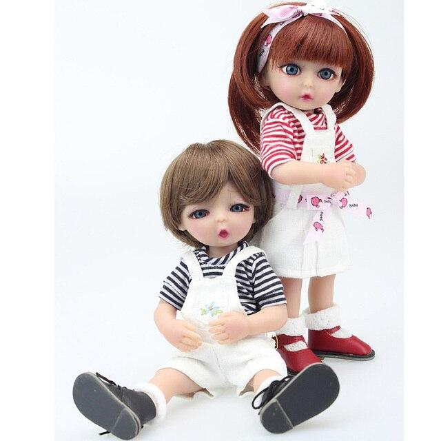 2018 Hadiah Terbaik 25 Cm Kecil Pasangan Lucu Boneka Penuh Silikon Mini Boneka  Bayi Mainan untuk 457408bb43