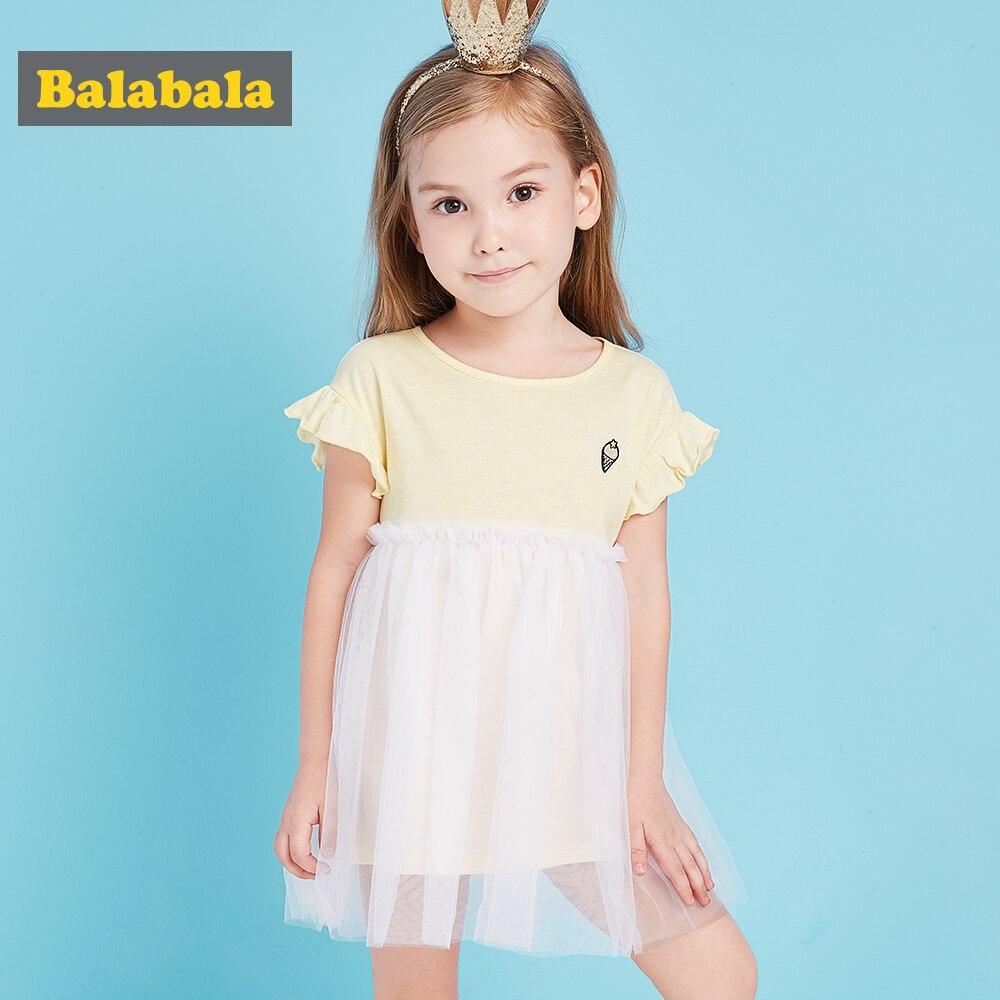Balabala Europe Kids 2018 summer Girls Dresses Sleeveless lace Princess Dresses 100% cotton Elsa Vestido Infantil Dress Girl платье mini balabala 52262140621