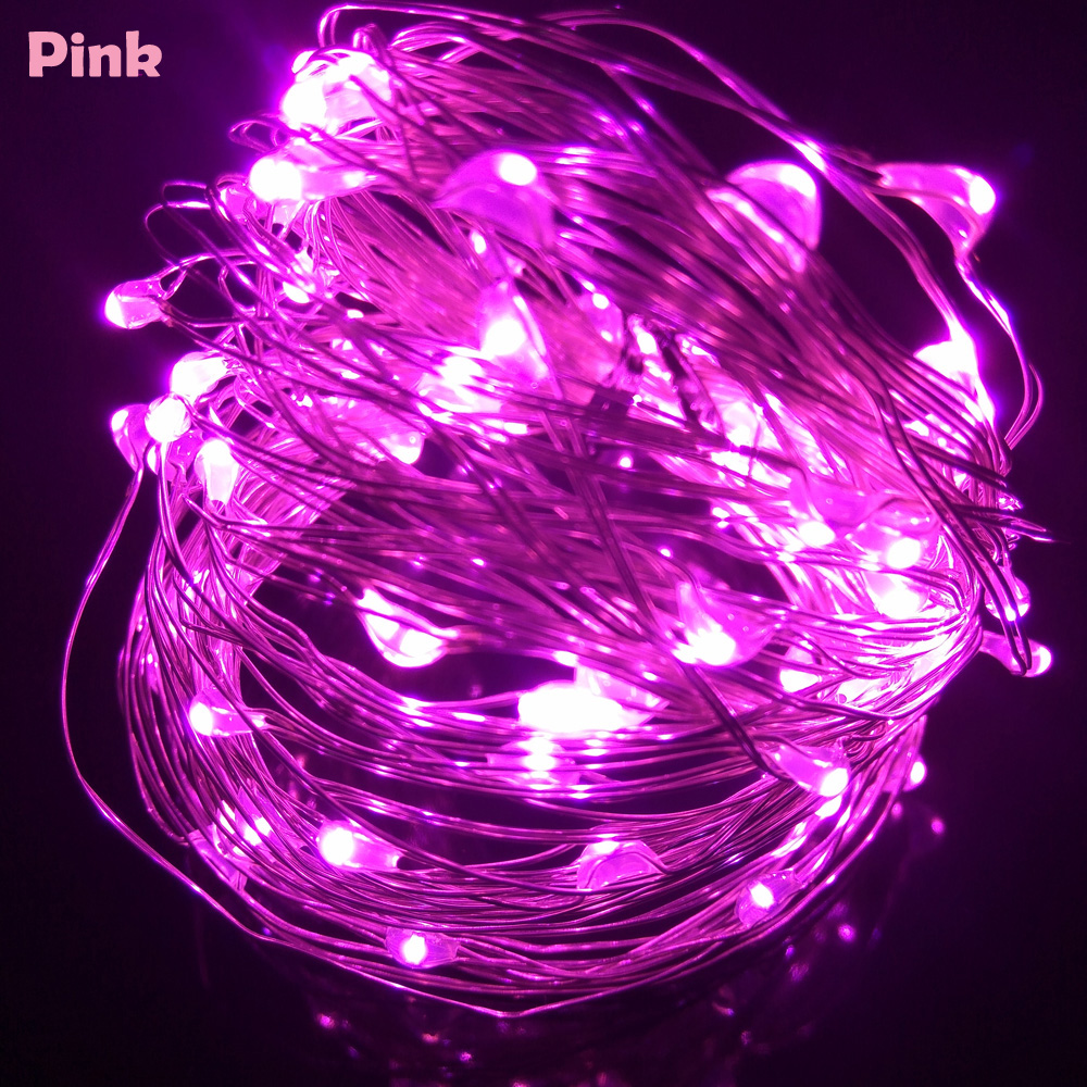 10M 33FT 100 led USB Outdoor Led Copper Wire String Lights Christmas Festival Wedding Party Garland Decoration Fairy Lights 3