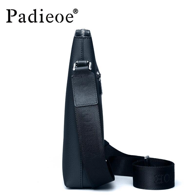 Padieoe Male Bandoulière Sacs Épaule Véritable En Mode Casual Hommes Sac black Cuir Marque Messenger Blue P0qPvr