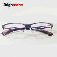 Danyang Spectacle Frame Exceed Light Tr 90 Material Male Half Rx Able Myopia Frame 6037 Frame