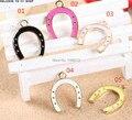 2015 Mais Novo Mini 20 pçs/lote moda horseshoe forma bracelete da liga de metal encantos diy Frete grátis esmaltado chaveiro encantos da jóia