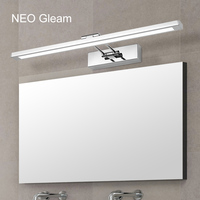 NEO Gleam Mirror light led bathroom wall lamp mirror glass waterproof anti fog brief modern stainless steel cabinet led light