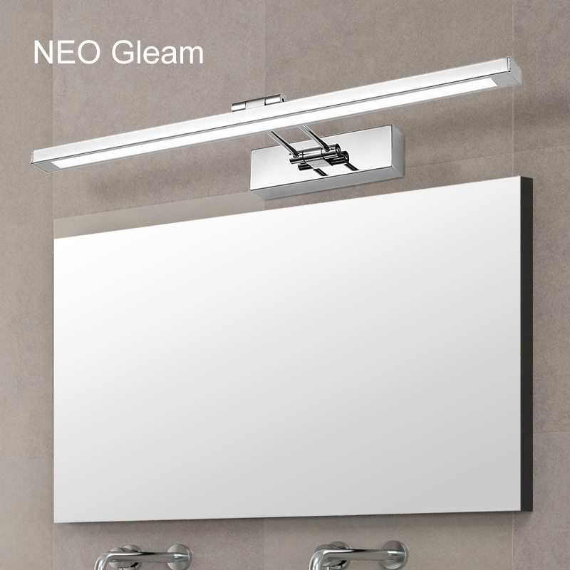 NEO Gleam Mirror light led bathroom wall lamp mirror glass waterproof anti-fog brief modern stainless steel cabinet led light reccagni angelo потолочная люстра reccagni angelo pl 9600 3