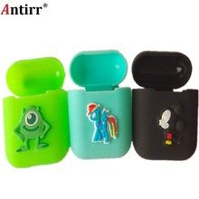 Soft Silicone Case For Apple Airpods Shockproof Cover For Apple AirPods Earphone Cases Ultra Thin Air Pods Protector Case цена
