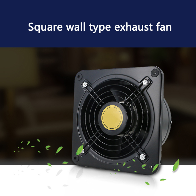 Wall-mounted Ventilation Extractor Exhaust Fan For Kitchen Bathroom Toilet POP  Air ejector fan 8 inch 200mm