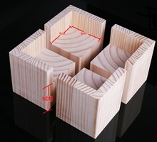 4PCS/LOT  Internal Size: 6x6cm Increase: 5cm Sofa Bed Feet Heightening Solid Wood Pad