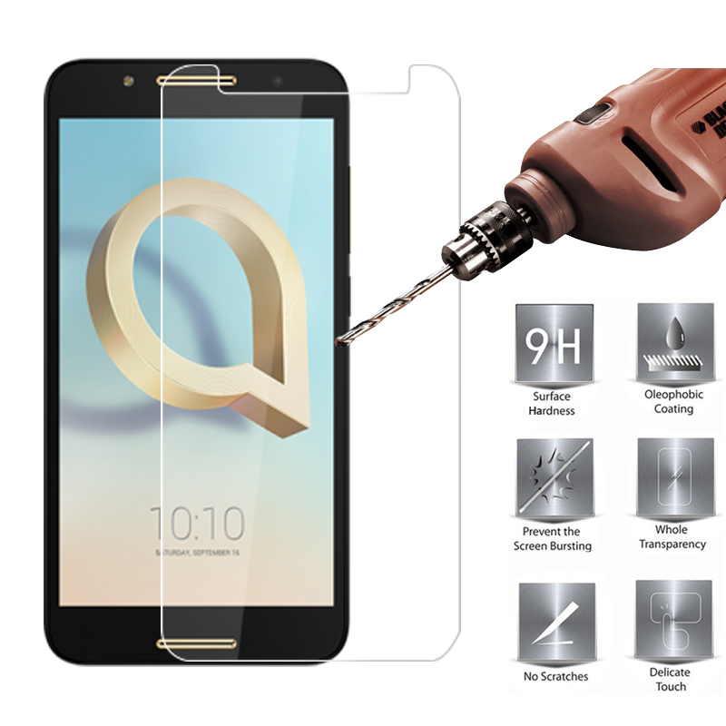 MRGO Tempered Glass for Alcatel A7 Screen Protector 9H 2.5D On Phone Protective Film Tempered Glass for Alcatel A7