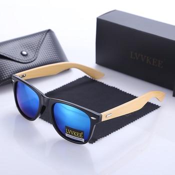 LVVKEE Top quality Brand Design Classic Rivet wood Mens/Womens sunglasses handmade bamboo Outdoors traveling sun glasses UV400 4