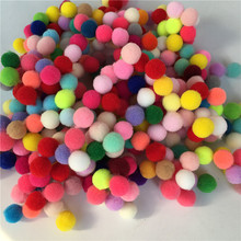 Free Shipping 400pcs/lot Small Multi DIY Decoration Ball 10mm Fur Pompon Soft Poms Home Decor Decorative Flowers Crafts