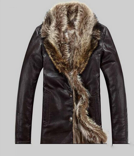 free shipping real sheepskin leather men's jacket  fashion long sleeve natural fur coat 1680