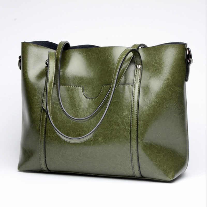 135e79205b72 ... Простые Модные женские сумки натуральная кожа сумка-шоппер больше  crossbody сумки Женщины Повседневная Сумка tote