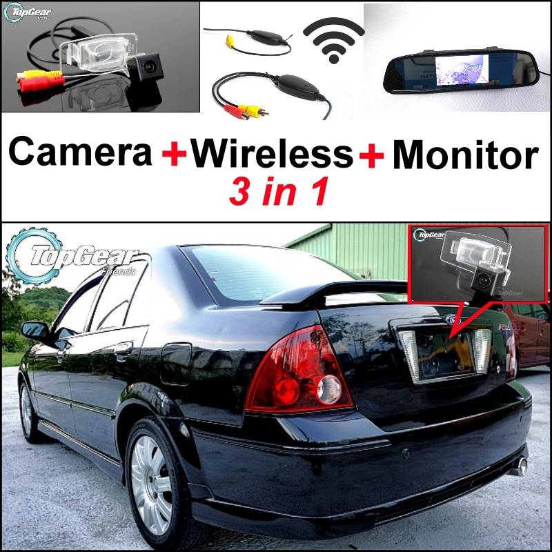 869f0d38446c 3 in1 специальные Камера + Беспроводной приемник + зеркало Мониторы легко  DIY парковка Системы для ford ACTIVA Lynx лазерной Тьерра 1998 ~ 2003