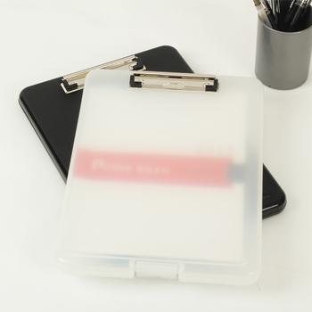 Czarny i biały klasyczny wielofunkcyjny organizer na dokumenty z tworzywa sztucznego schowek pudełko walizka na dokumenty Folder plików długopis trzymać materiały biurowe tanie i dobre opinie PINKINAHY WJD02 34cm*24cm Plik skrzynka Przypadku