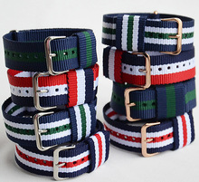 10PCS Wholesale 20mm 18mm Nato Watch Straps Nylon Strap Watchbands Army Military Fabric Woven Band Buckle Bracelet Men