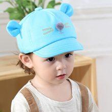 4e379a0e Transpirable de gato de dibujos animados diseño bebé sombrero gorra de  béisbol de algodón lindo bebé