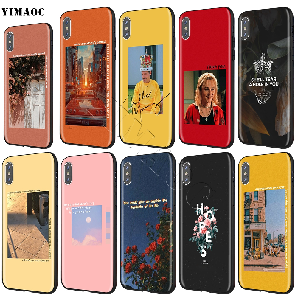YIMAOC Aesthetics Songs Lyrics Aesthetic Soft Silicone Case for iPhone XS  Max XR X 8 7 6 6S Plus 5 5s se
